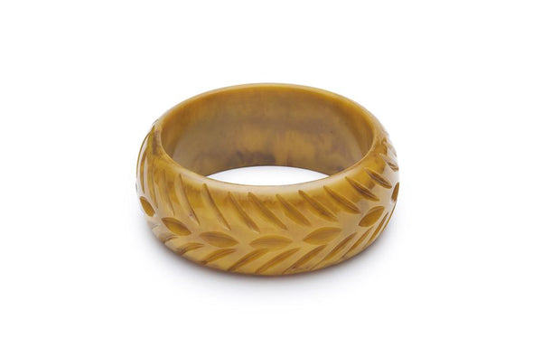 Wide Banoffee Fakelite Bangle