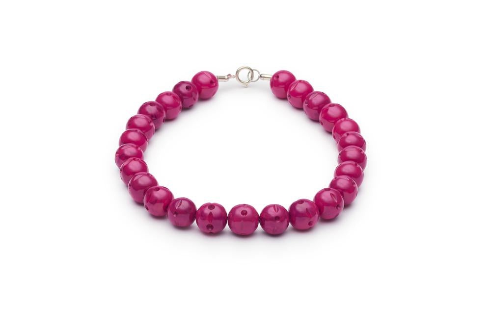 Carved Berry Fakelite Beads