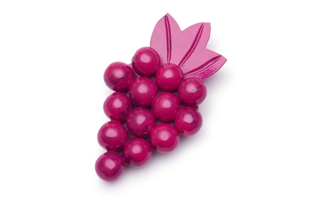 Berry Fakelite Brooch