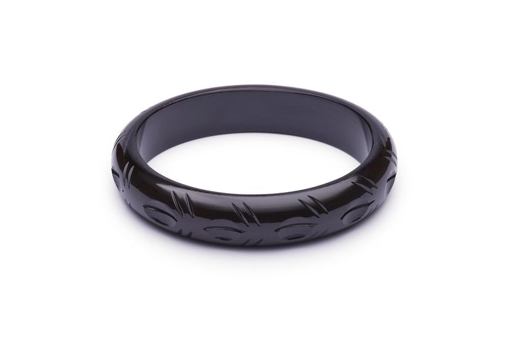 Midi Black Fakelite Duchess Bangle