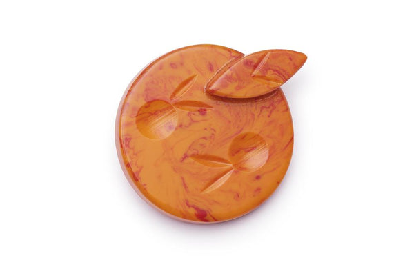 Blood Orange Fakelite Brooch