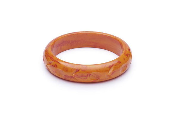 Midi Blood Orange Fakelite Bangle