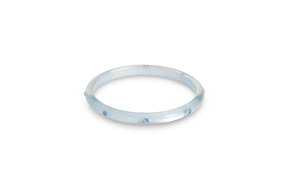Narrow Baby Blue Moonglow Bangle