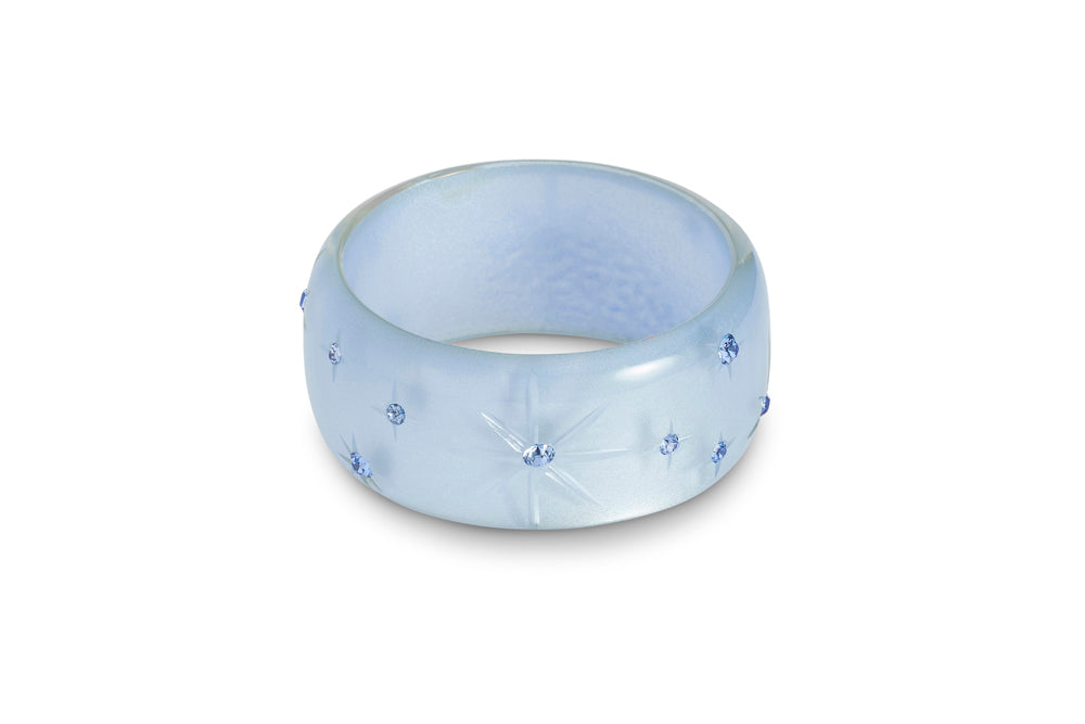 Extra Wide Baby Blue Moonglow Bangle