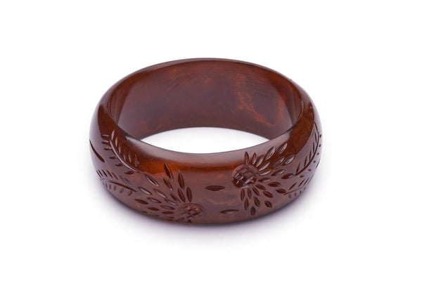 Wide Brown Fakelite Duchess Bangle