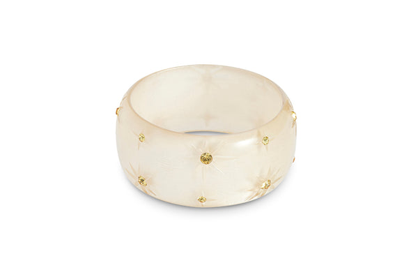 Extra Wide Champagne Moonglow Starburst Bangle