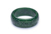 Wide Deep Green Fakelite Duchess Bangle