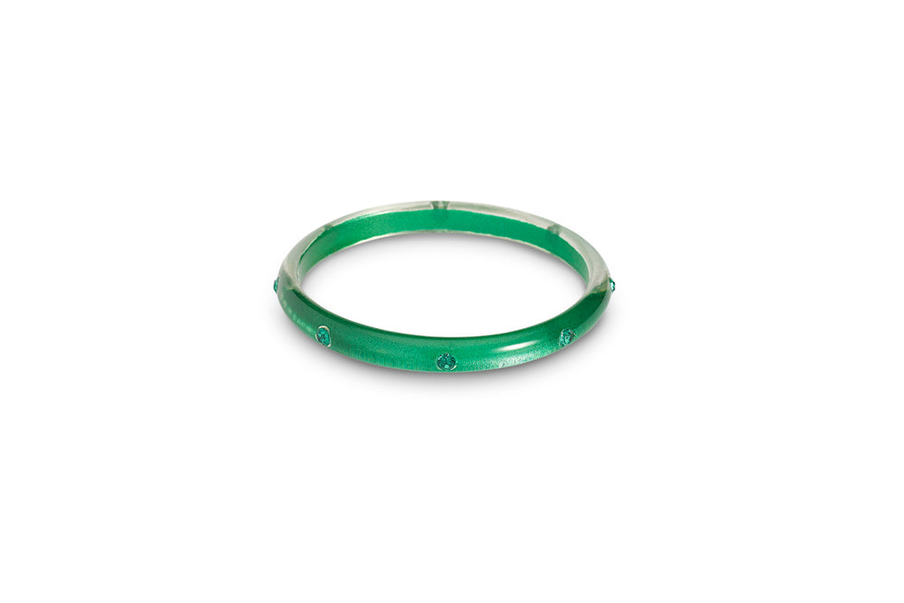Emerald Moonglow Maiden Bangle