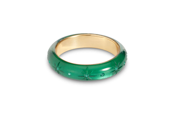 Midi Emerald Moonglow Bangle