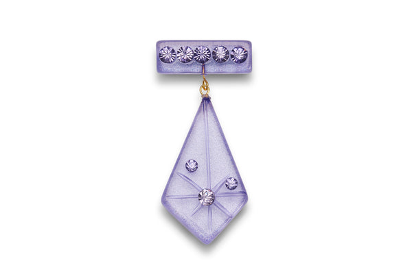 Lavender Moonglow Starburst Brooch