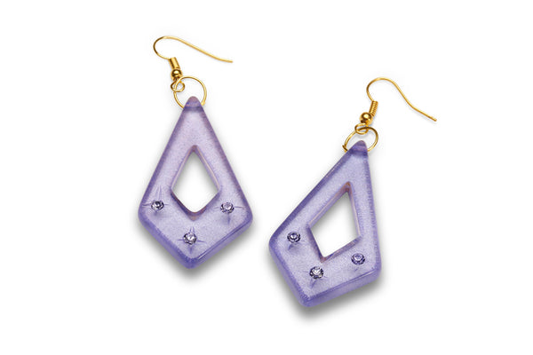 Lavender Moonglow Starburst Earrings