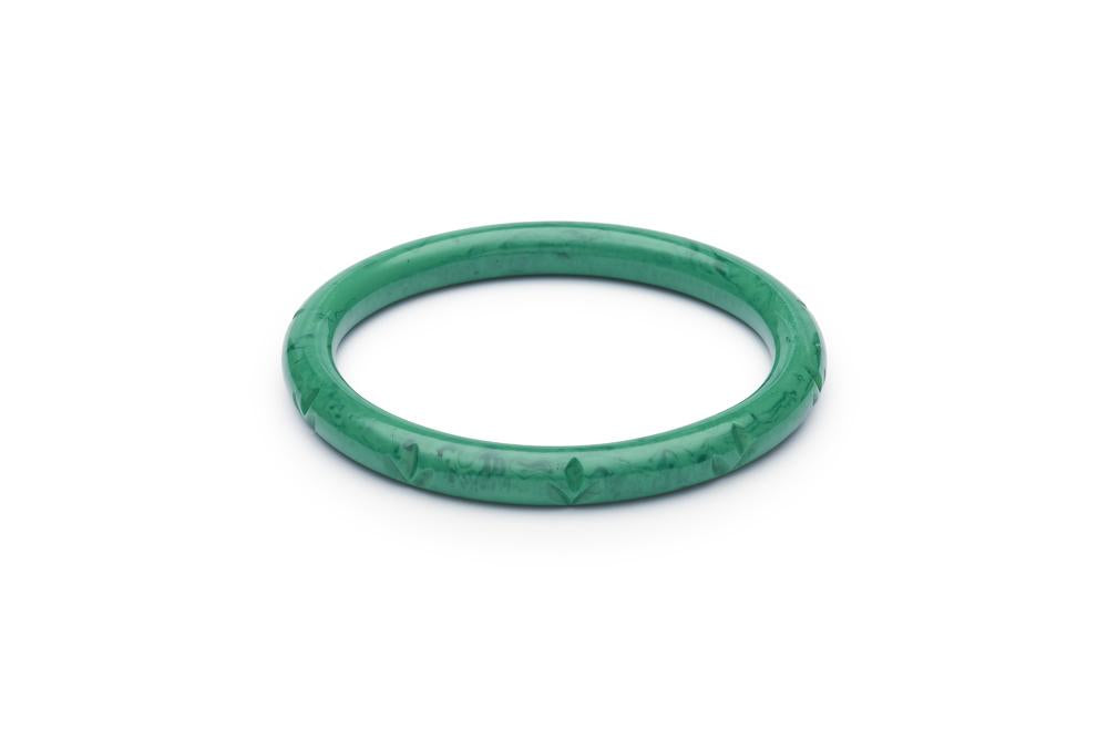 Narrow Malachite Fakelite Bangle