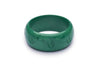 Wide Malachite Fakelite Bangle