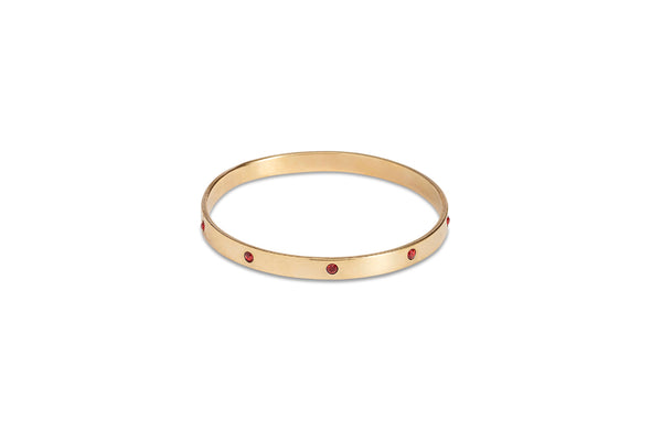 Gold Bangle With Ruby Diamantes