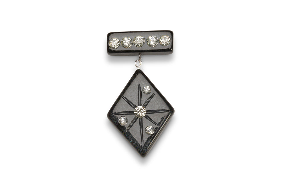 Noire Moonglow Starburst Brooch