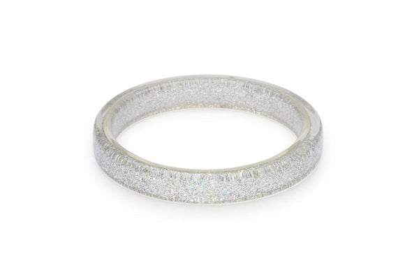 Silver Glitter Duchess Bangle