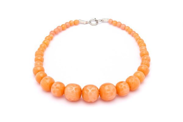Peachy Carved Beads