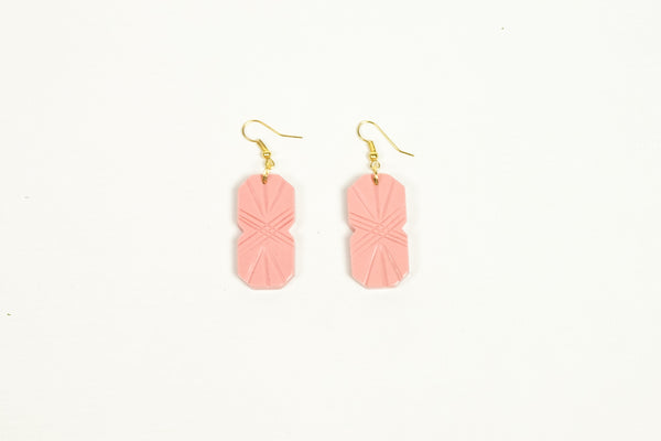 Pale Pink Fakelite Drop Earrings