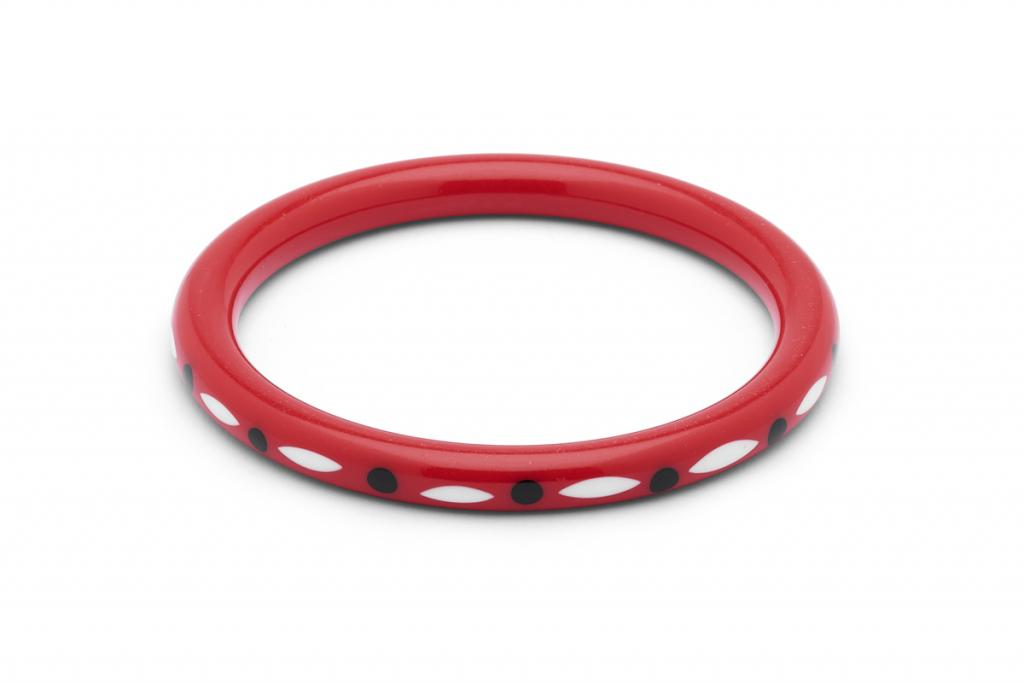 Folklore Narrow Red Bangle