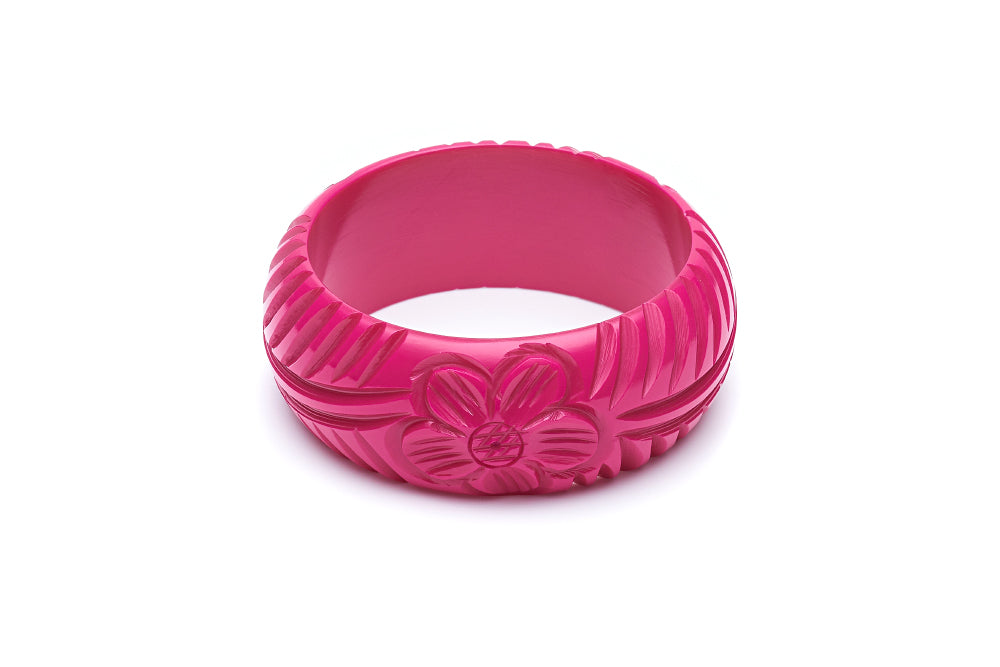 1950s style iris pink wide fakelite bangle