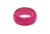 1940s style iris pink wide fakelite bangle