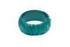 1950s style jade green wide heavy carve bangle