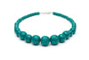 1950s style jade green heavy carve beads