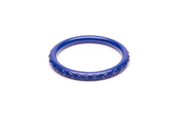 1940s style indigo blue heavy carve narrow bangle