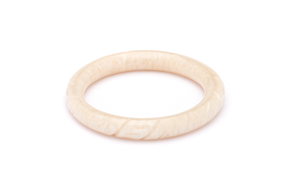Pearl Carved Maiden Bangle