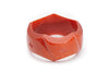 Splendette vintage inspired 1940s style carved orange Chunky Golden Amber Fakelite Bangle in Duchess size