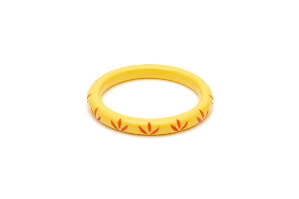 Splendette Narrow Sunrise Carved Maiden Bangle