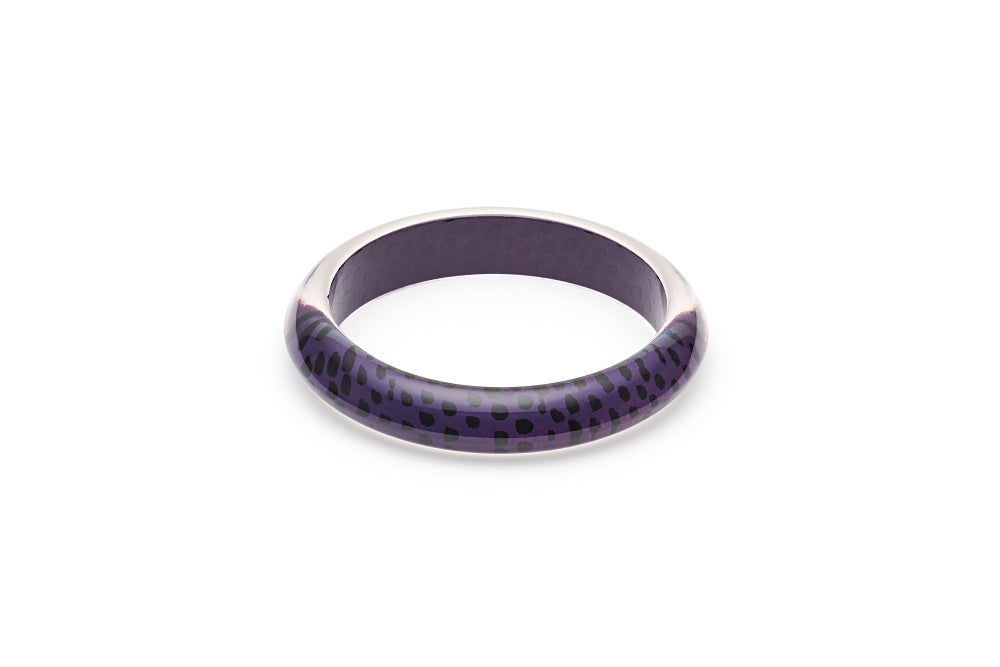Purple Leopard Maiden Bangle