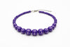 Violet Carved Bead Necklace
