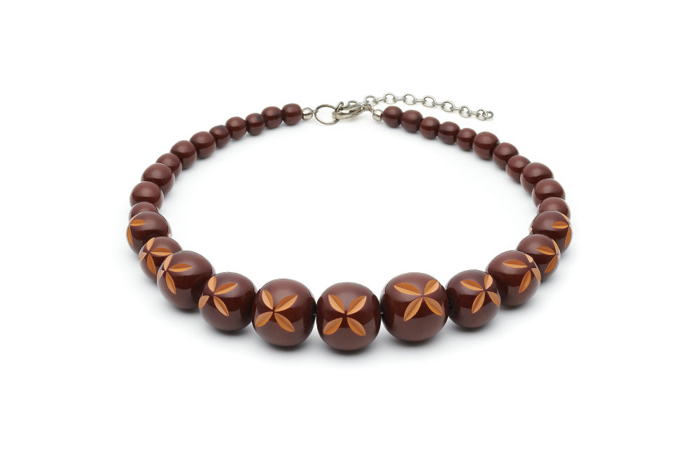 Splendette Walnut Bead Necklace