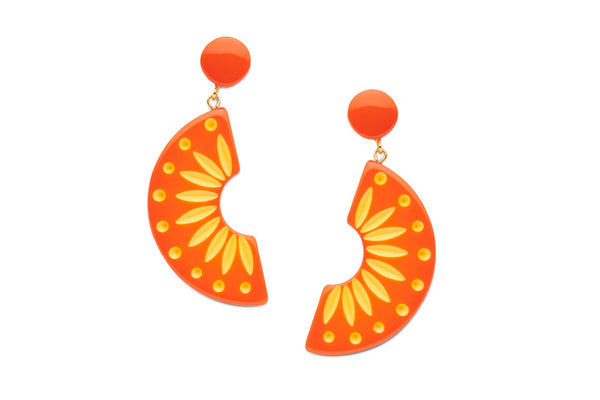 Splendette Sunset Carved Earrings