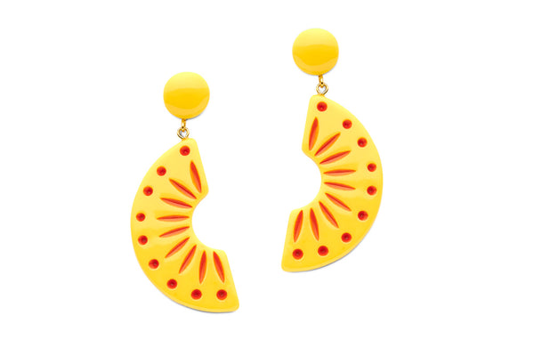 Splendette Sunrise Carved Earrings