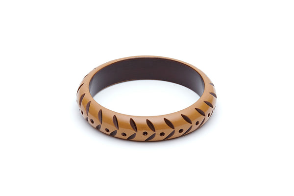 Splendette Midi Almond Carved Bangle