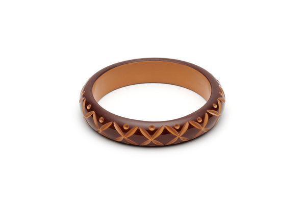 Splendette Midi Walnut Carved Bangle