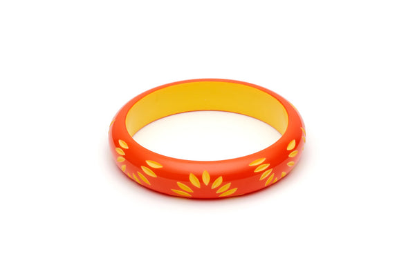 Splendette Midi Sunset Carved Bangle