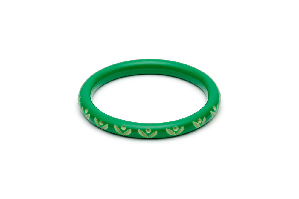 Splendette Narrow Summer Carved Bangle