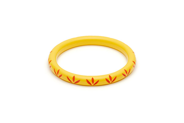 Splendette Narrow Sunrise Carved Bangle