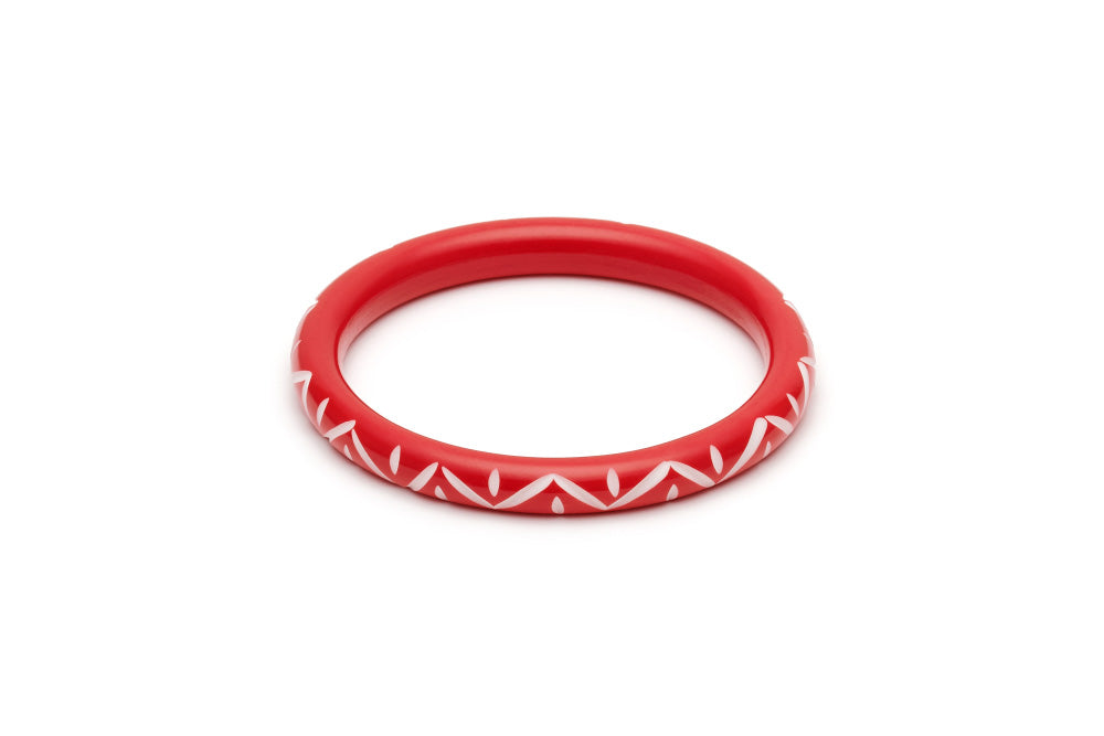 Splendette Narrow Lover Carved Maiden Bangle