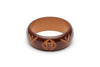 Splendette Wide Walnut Carved Bangle