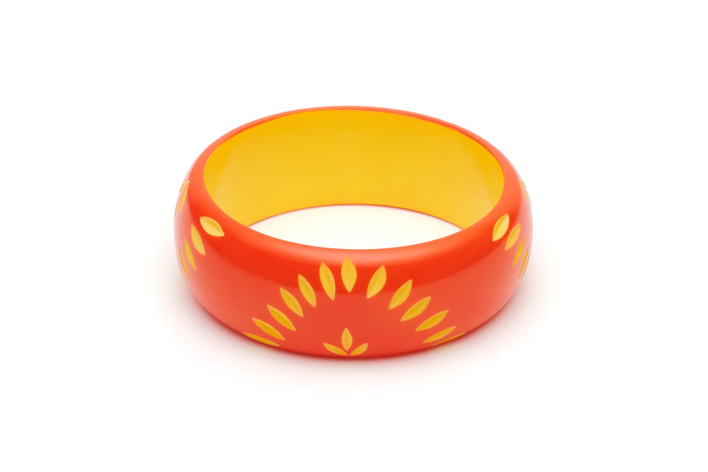 Splendette Wide Sunset Carved Duchess Bangle