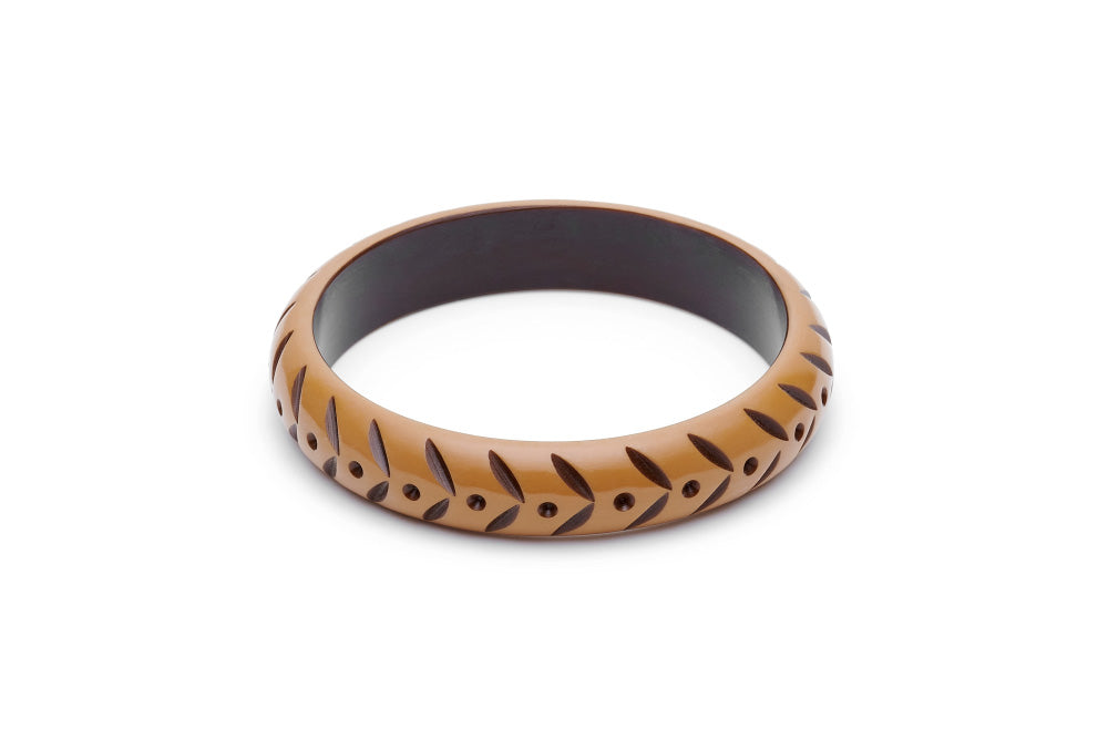 Splendette Midi Almond Carved Duchess Bangle