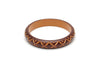 Splendette Midi Walnut Carved Duchess Bangle