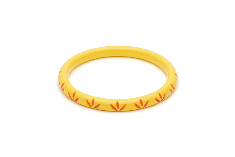 Splendette Narrow Sunrise Carved Duchess Bangle