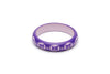 Splendette Midi Violet Carved Maiden Bangle