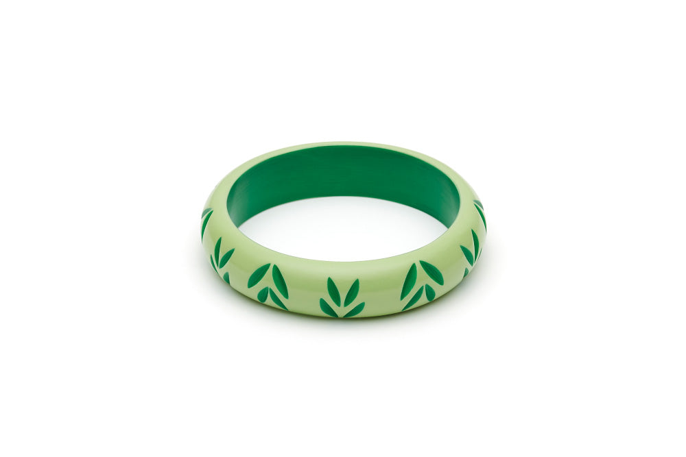 Splendette Midi Spring Carved Bangle