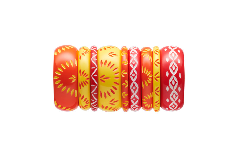 Midi Sunrise Carved Bangle